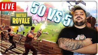 🔴 LIVE FORTNITE 50vs50 e NUOVA ARMA !!! [Fortnite Battle Royale]