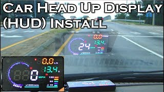 """Video Car Head Up Display - A8 5.5"""" OBDII HUD - Review and Install - GearBest MP3, 3GP, MP4, WEBM, AVI, FLV September 2018"""