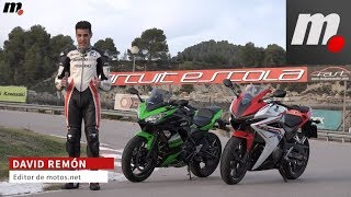 10. Honda CBR500R vs Kawasaki Ninja 650 KRT | Comparativo / Test / Review en español | motos.net