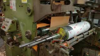 4 Four (4) color stack type flexographic printing machine - Honsel youtube video