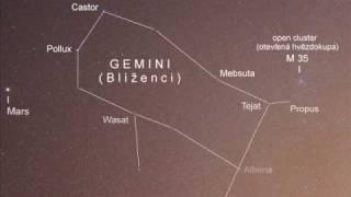 Astronomy-Gemini (Blíženci)+ M35, Time Lapse.wmv