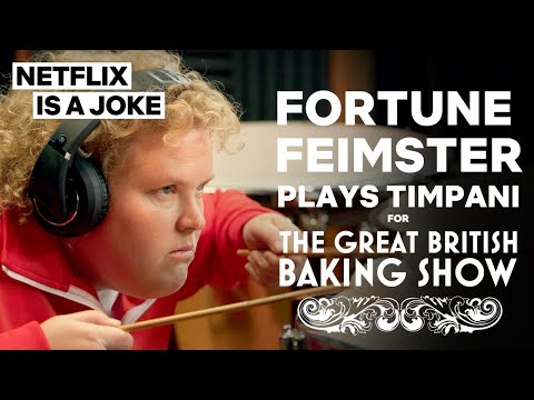 Fortune Feimster Plays Timpani Drums For The Great British Baking Show | Netflix Is A Joke