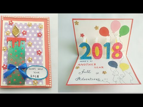 DIY New Year Card 2018/Greeting Card for New Year Celebration/New Year Pop Up Card