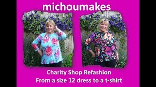 Video Charity Shop Refashion - size 12 Dress to a size 16 top MP3, 3GP, MP4, WEBM, AVI, FLV Oktober 2018