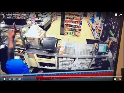 "Security guard takes on armed robbers in convenience store; ""I don't give a flying fuck!"""