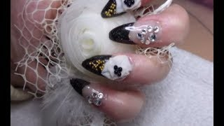 Hi, im using organics products dual system forms and NSI nail bed pink. I hope this video helps you to speed up the time it takes to do a full set of acrylic...
