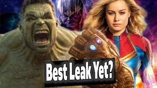 BEST AVENGERS ENDGAME LEAK YET?! Captain Marvel DEPOWERED? MCU Drama?
