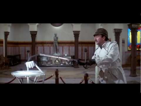 Inspector Clouseau examines the crime scene
