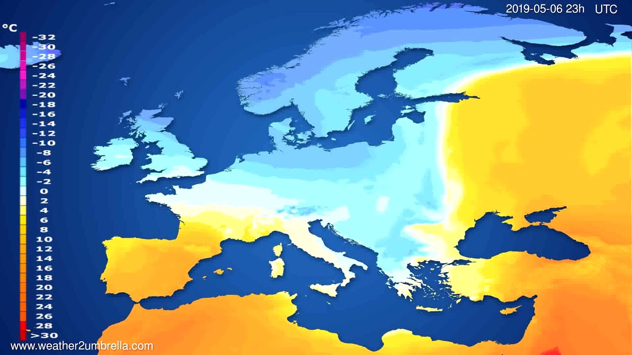 Temperature forecast Europe // modelrun: 12h UTC 2019-05-03