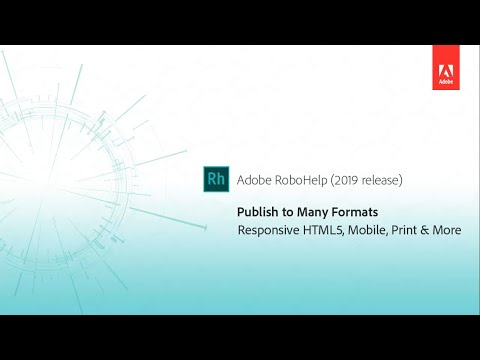 Multiformat publishing - Adobe RoboHelp (2019 release)
