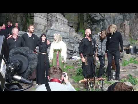 Nordic funeral song performed on the side of a mountain in Oslo, Norway