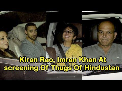 Kiran Rao, Imran Khan screening Of Thugs Of Hindustan At Yashraj