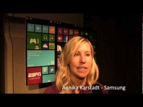Interview mit Annika Karstadt von Samsung zur Windows Phone 8 Premiere.