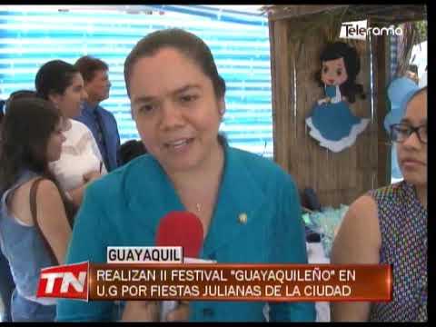 Realizan II festival Guayaquileño en U.G. por fiestas Julianas de la ciudad