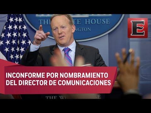 Sean Spicer renuncia como portavoz de la Casa Blanca