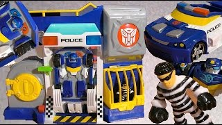 Chase Rescue Bots and Robbers Police Headquarters - Unbox and Review