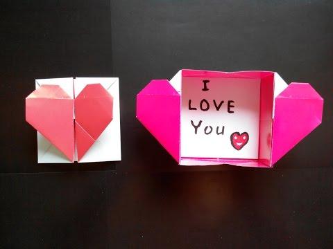 Коробка-сердце из бумаги