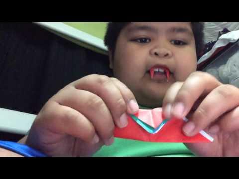 Как сделать клыки на зубы из бумаги