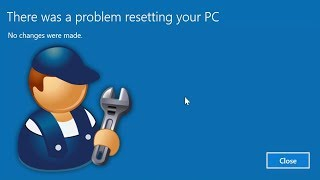 Video How To FIX There was a problem resetting your PC - No changes were made