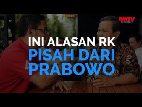 Ini Alasan RK Pisah Dari Prabowo