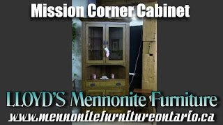 Mennonite Mission Corner Cabinet