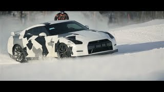NISSAN GT-R Ski slope - YouTube