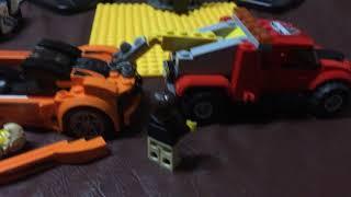towing the Maclaren in Lego