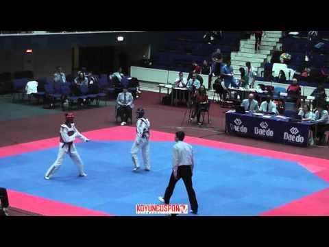53kg Nikol CHARBANOVA (BUL) vs (ITA) STRANIERI Benedetta (-21 European TKD Championships 2015) (видео)