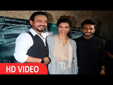 Deepika Padukone & Ranveer Singh At Screening Of Flim Madaari