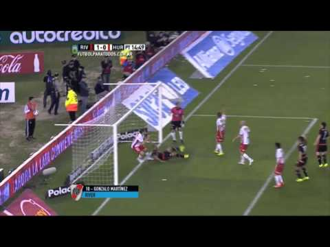 Gol de Martínez. River 1 Huracán 0.Fecha 22.Torneo Primera División 2015