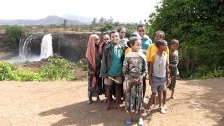 Ethiopian National Anthem In Front Of Blue Nile Waterfalls