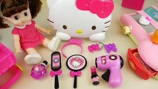 Video Hello Kitty hair shop mart register and baby doll toys play MP3, 3GP, MP4, WEBM, AVI, FLV November 2018