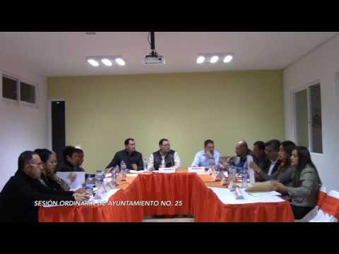 Sesión Ordinaria No. 25 de Ayuntamiento  10 de noviembre de 2016