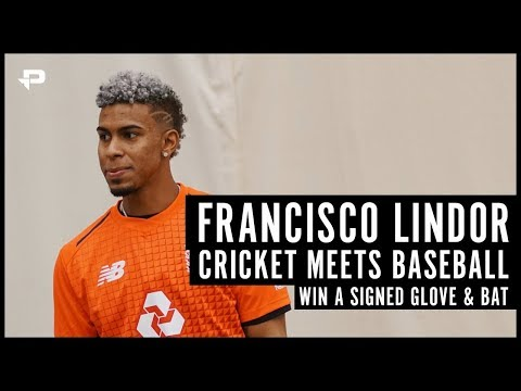 Cricket Meets Baseball | WIN Francisco Lindor Signed Glove And Bat!!