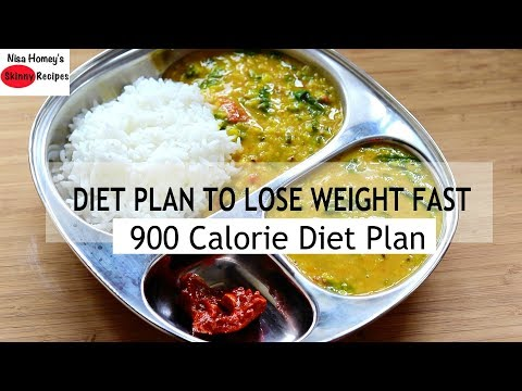 Diet Plan To Lose Weight Fast - 900 Calories - Full Day Meal Plan For Weight Loss | Skinny Recipes
