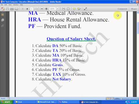 how to make salary sheet in excel how to make salary sheet on video free download gratis at. Black Bedroom Furniture Sets. Home Design Ideas