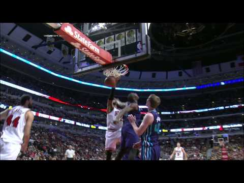 Gibson - Taj Gibson takes the nice feed inside and throws down the facial on Bismack Biyombo. About the NBA: The NBA is the premier professional basketball league in the United States and Canada....