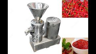 Industrial sauce making machine hot sauce grinding machine youtube video