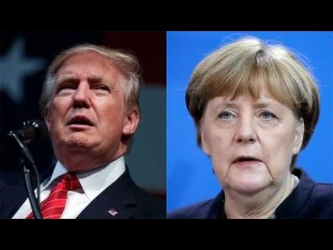 Trump trades jabs with Germany's Merkel over refugee policy (видео)