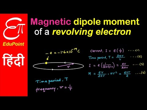 Magnetic dipole moment of a revolving electron | video in HINDI | EduPoint