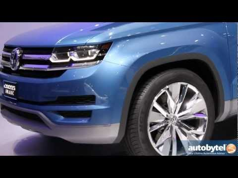 Volkswagen CrossBlue TDI Diesel Hybrid Concept Car at the 2013 Detroit Auto Show