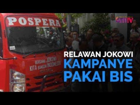 Relawan Jokowi Kampanye Pakai Bis