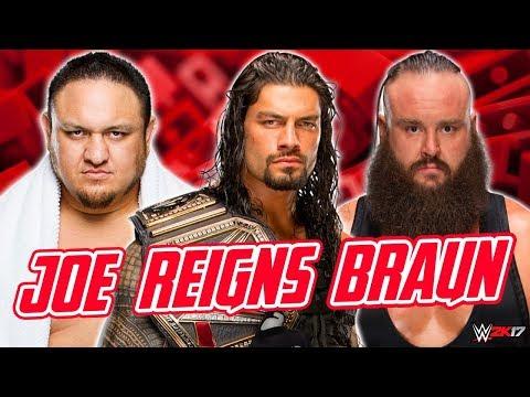 Roman Reigns vs Braun Strowman vs Samoa Joe Triple Threat Match  Raw, July 31, 2017