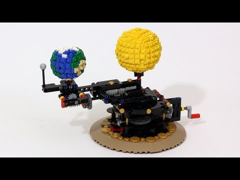 Man Builds Surprisingly Accurate LEGO Orrery Of Earth Moon And