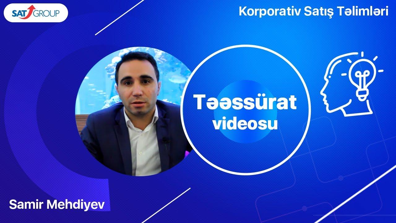 Korporativ Satış təlimləri. Samir Mehdiyev – TEPE şirkətinin baş meneceri.