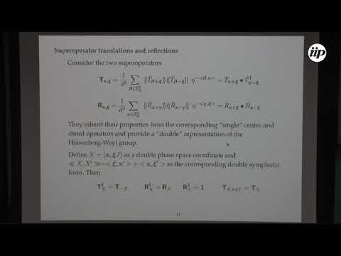 Translations and reflections in double phase space - Marcos Saraceno
