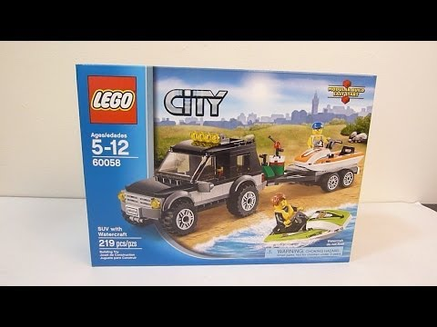 Конструктор LEGO City 60058 Внедорожник с водными мотоциклами