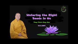 Watering the Right Seeds in Us - Thay Thich Phap Hoa (12.3.2011)