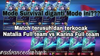 Video Match Seru 5 Natalia vs 5 Karina Mode Mirror Mobile Legends MP3, 3GP, MP4, WEBM, AVI, FLV Januari 2019