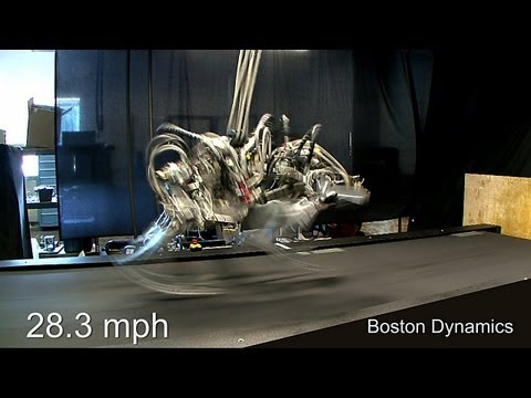 cheetah - Cheetah Robot is a fast-running quadruped developed by Boston Dynamics with funding from DARPA. It just blazed past its previous speed record, getting up to ...